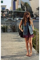 black crochet Topshop top - navy clubmaster ray-ban sunglasses