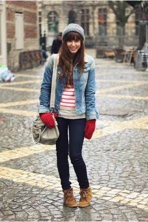 Ruby Red Topshop Wool Denim Jacket | Chictopia