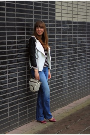 black black-white we jacket - blue seventies Diesel jeans
