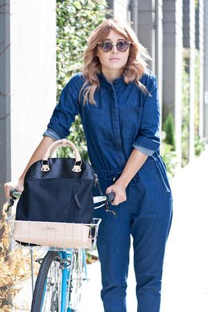 backpack Timbuk2 bag - denim jumpsuit Urban Outfitters jumper