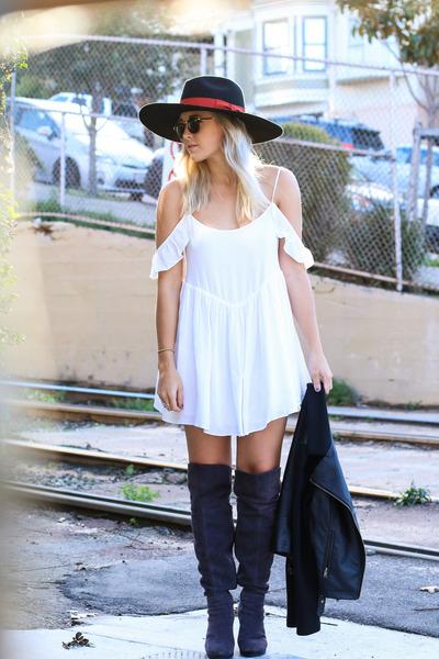 Tall Over The Knee Boots boots - Azalea dress