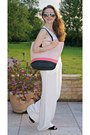 Salmon-h-m-bag-white-primark-pants-white-new-look-top