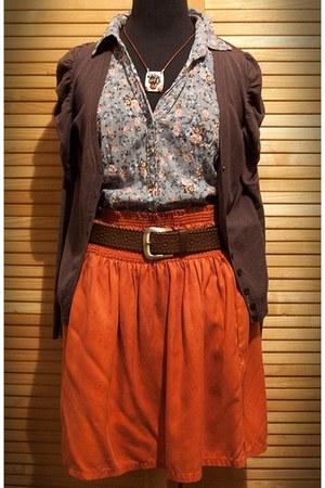 Zara cardigan - Zara blouse - Zara skirt