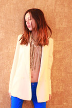 leather steal Antik Batik necklace - Zara jeans - Silent  Noise blazer