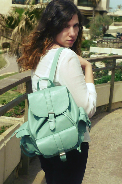 mint backpack romwe bag