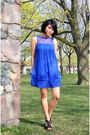Blue-urban-behaviour-dress-black-brida-shoes