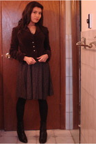 dress - Forever 21 blazer - stockings - boots - accessories