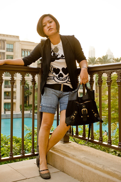Zara t-shirt - blazer - shorts - Chinese Laundry shoes - Forever 21 belt - Charl