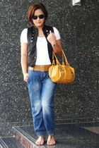Splash vest - Splash jeans - H&M belt - American Eagle - Nine West bag - Aldo su