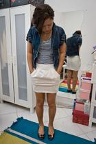 Zara top - MS vest - Zara skirt - Vincci shoes