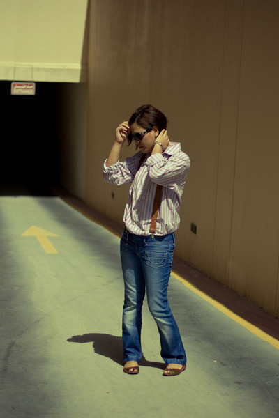 shirt - pull&bear jeans - - Vincci shoes - Aldo sunglasses
