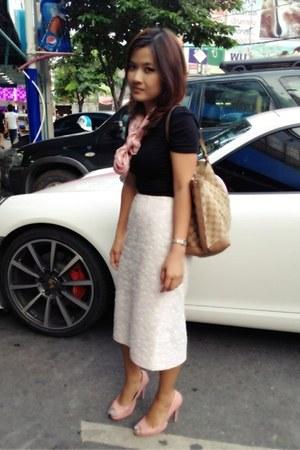 vintage skirt - crimson Topshop t-shirt