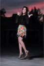 Black-fashion-by-nawa-shirt-orange-by-nawa-skirt-chartreuse-by-nawa-skirt