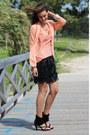 Zara-blazer-leather-skirts-zara-skirt-zara-blouse-mango-bracelet