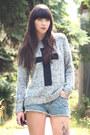 Heather-gray-new-look-jumper-black-chanel-bag-blue-h-m-shorts