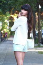 White-bimba-lola-bag-aquamarine-zara-shorts-white-zara-jumper