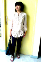 blouse - jeans - purse - shoes