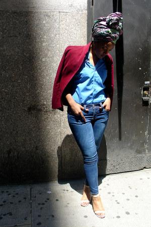 fitted Oscar de la Renta blazer - skinny jeans Seven jeans