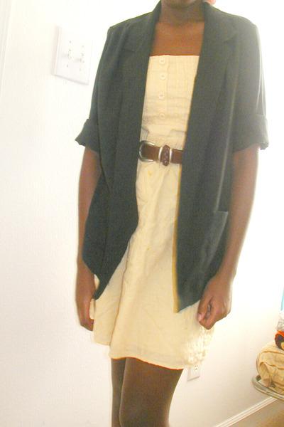 Charlotte Russe dress - belt - thirfted blazer - Rack Room shoes