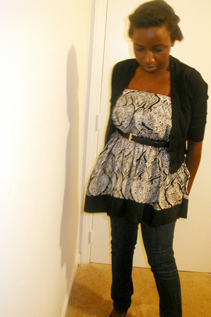 sweater - Target skirt - Ralph Lauren belt - social collision jeans - Sears shoe