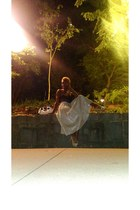 off white gold midi salt skirt