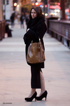 Dolce Vita heels - mara hoffman coat - tan leather bag Michael Kors bag
