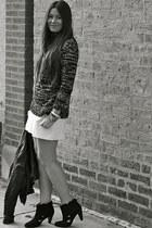 Zara sweater - Urban Outfitters boots - Zara jacket - Zara skirt