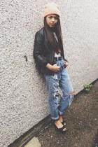 black platform shoes - light blue studded levis theraggedpriest jeans