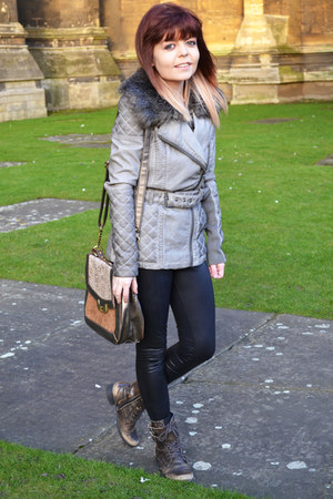 heather gray River Island jacket