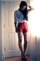 red vintage shorts