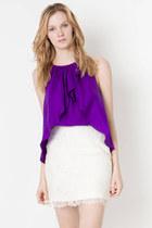 violet top ClubCouture blouse