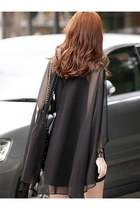 New Korean Style Slim Chiffon Big Size Long Sleeve Dress