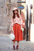 orange ClubCouture skirt
