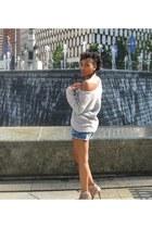 Falchi heels - American Rag sweater