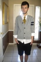 converse one star jacket - XXI shirt - vintage tie - volcom shorts