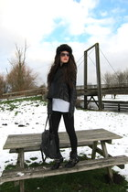 black asos jacket - black D-Co Copenhagen boots - white t by alexander wang t-sh