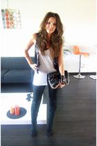 asos - Zara boots - pieces - Zara