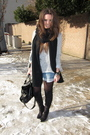 Gray-zara-blazer-gray-zara-shirt-blue-zara-shorts-black-zara-boots