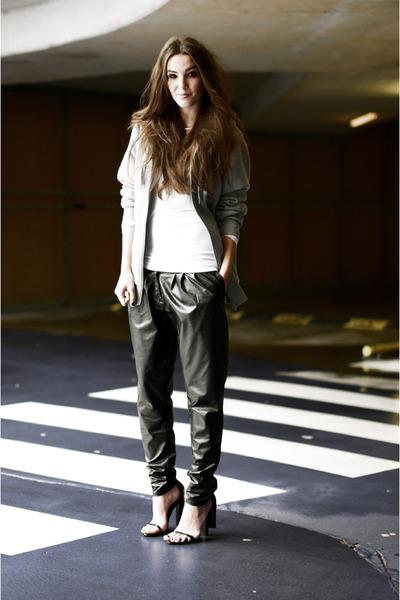 cape heels Alexander Wang heels - leather harem romwe pants - top