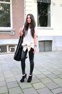 Black-steve-madden-boots-pink-gestuz-blouse-black-topshop-pants