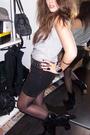 Black-h-m-skirt-silver-h-m-t-shirt-black-zara-belt-black-vintage-boots