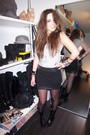 Black-h-m-skirt-silver-h-m-t-shirt-black-zara-belt-black-vintage-boots