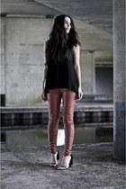 black cape heels Alexander Wang heels
