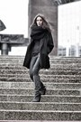 Gray-wedges-isabel-marant-boots-black-coat-black-knitted-circle-scarf