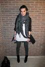 Black-zara-boots-gray-vila-leggings-black-h-m-coat