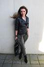 Black-zara-boots-green-zara-pants-black-zara-jacket-black-zara