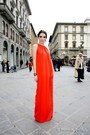 silk long dress Celine dress