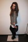 Gold-topshop-blazer-white-h-m-t-shirt-black-zara-boots-black-asos-purse