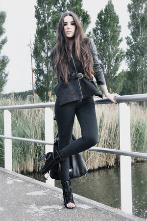 black Alexander Wang boots - black Cheap Monday jeans - black Cora Groppo jacket