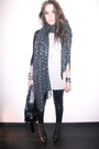 Gray-urban-outfitters-scarf-gray-mango-blue-h-m-jacket-black-topshop-leggi